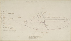 [Drawn plan of Spring Gardens, with improvements and additions]